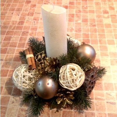 Новогодние композиции из свеч своими руками